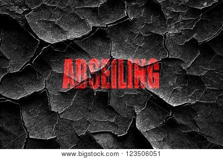 Grunge cracked abseiling sign background with some soft smooth lines