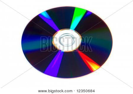 DVD on the white background