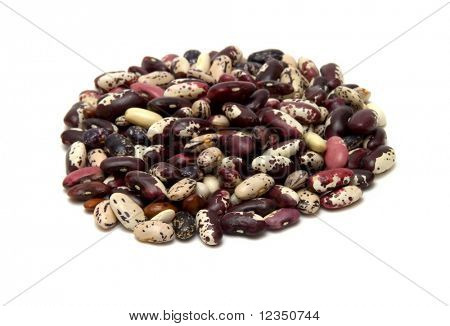 heap of kidney bean on white background