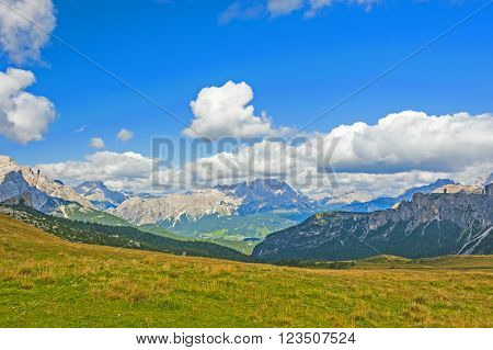 The Great Dolomite Road is a breathtaking scenic drive that crosses the alpine passes, connecting the Bozen and Bolzano regions. ** Note: Shallow depth of field