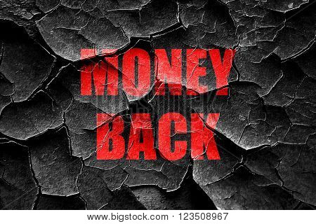 Grunge cracked money back sign with some soft smooth lines