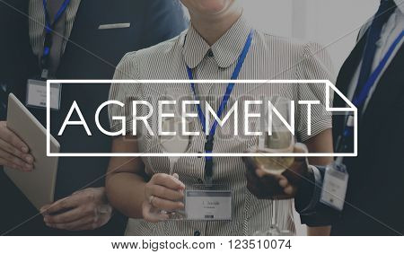 Agreement Deal Partnership Solution Connection Communication Concept