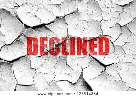 Grunge cracked declined sign background with some soft smooth lines