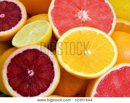 naranjas, pomelos y limones