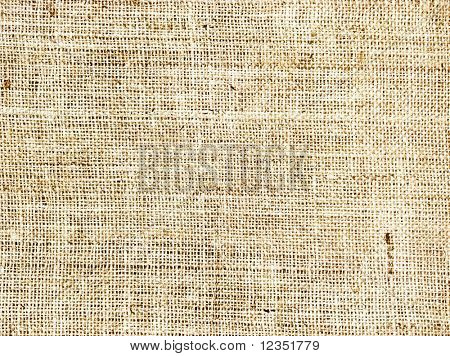 background made of old sackcloth