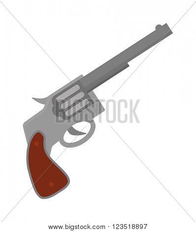 Weapon series vintage wild west army handgun military pistol gun vector.