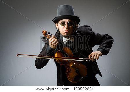 Man in musical art concept