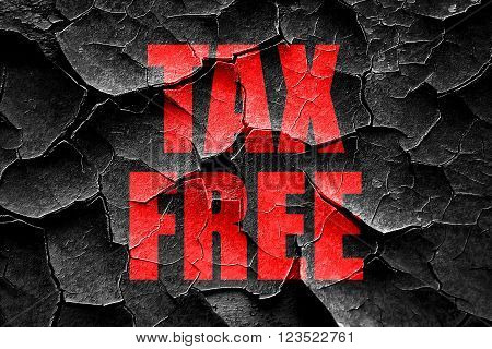 Grunge cracked tax free sign with some soft smooth lines