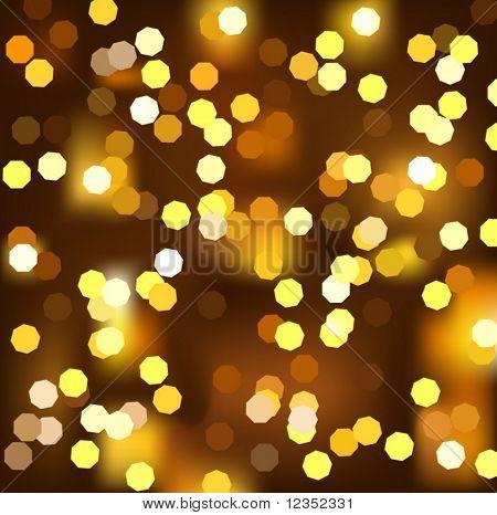 vector illustration of Christmas light (octagon light version)