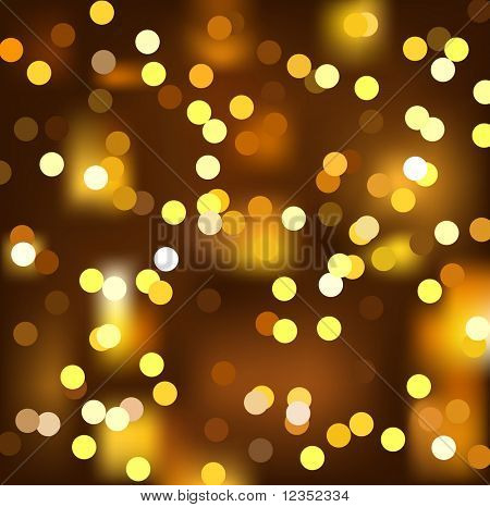 vector illustration of gold christmas light