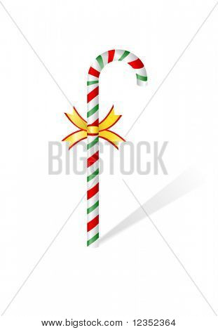 Vector illustration of candycane