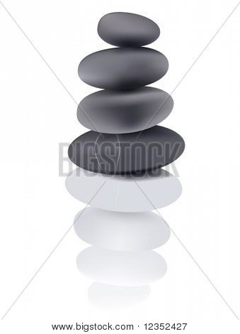 Vector illustration of stone tower