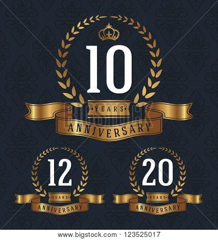 101220 Years Anniversary decorative sign. Vector illustration