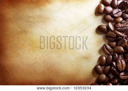 Café grunge background
