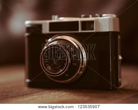 Close up shot of film cameras that had been popular in the past