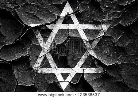 Grunge cracked Star of david with some soft flowing lines