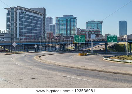 Little Rock, Ar/usa - Circa February 2016: Downtown Of Little Rock,  Arkansas