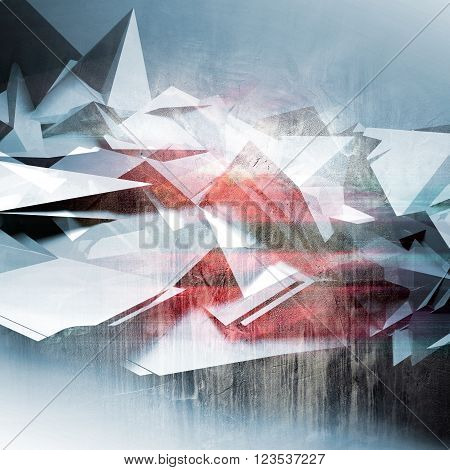 Abstract Polygonal Background, Colorful Pattern