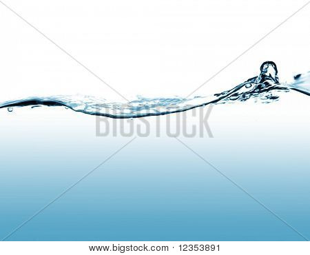 Rough water surface