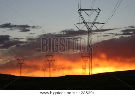 Sunset Powerlines 2