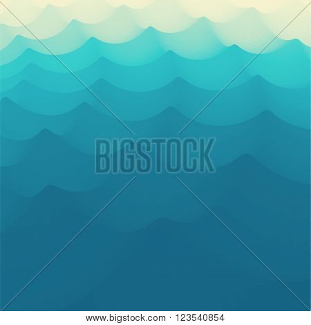 Wavy Background. 3d Abstract Vector Illustration. Design Template. Modern Pattern. Vector Illustration For Your Design. Can Be Used For Banner, Flyer, Book Cover, Poster, Web Banners.