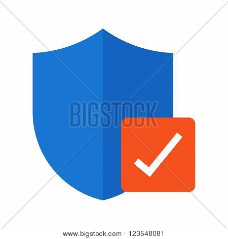Verified, security, protection icon vector image.Can also be used for security. Suitable for mobile apps, web apps and print media.