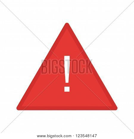 Warning, sign, alert icon vector image.Can also be used for security. Suitable for mobile apps, web apps and print media.