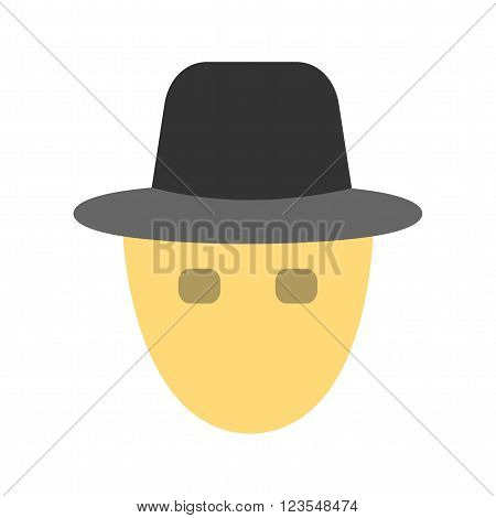 Mask, robbery, hacker rain, protection icon vector image. Can also be used for security. Suitable for use on web apps, mobile apps and print media.