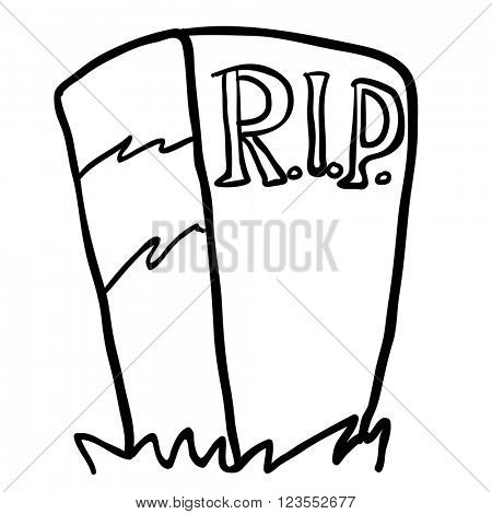 black and white tombstone cartoon