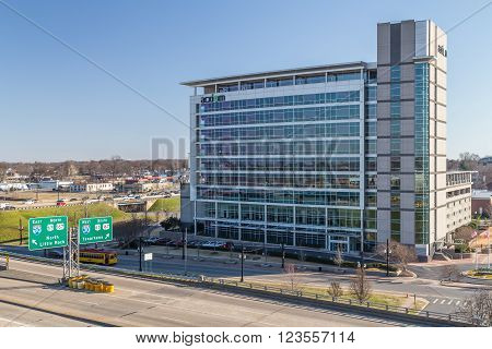 Little Rock, Ar/usa - Circa February 2016: Acxiom Corporation Headquarters Building In Downtown Of L