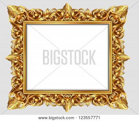 illustration vintage border frame engraving with retro ornament