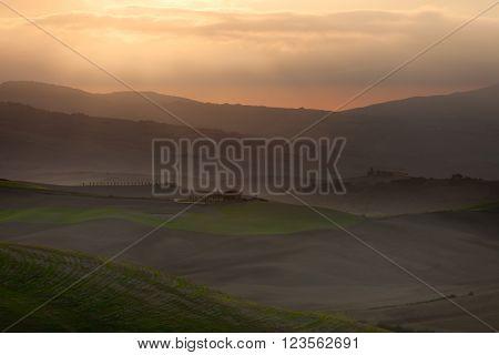 Val d'Orcia - beautiful Tuscany landscape (Italy)