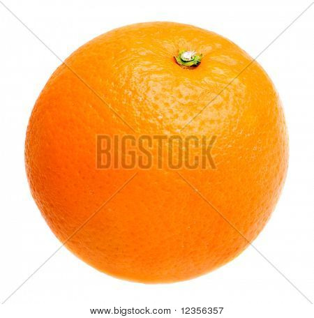 Orange, isolated on white