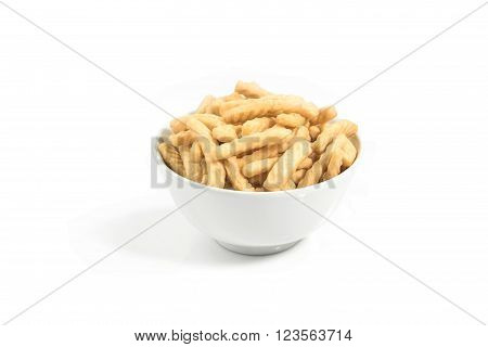 prawn crackers crackers isolated on white background