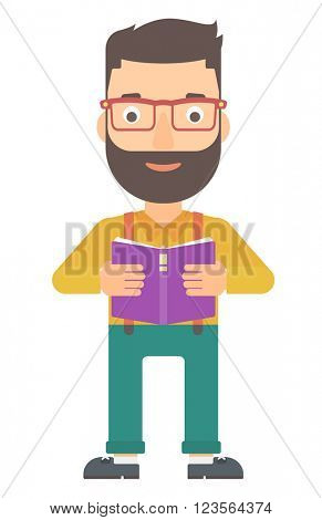 Man reading book.
