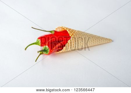 Red Hot Chili Peppers In A Wafer Cone