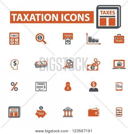 taxes, debt, taxes, tax time, savings icons
