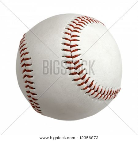Baseball ball isolated on white background