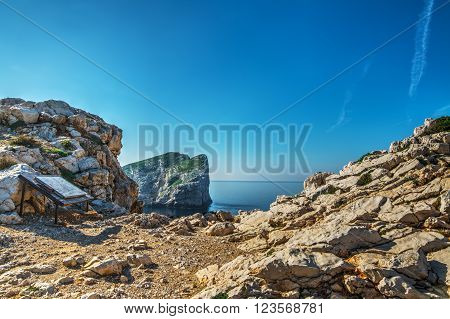 blue sky over Capo Caccia in Sardinia