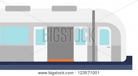 Modern high speed train.