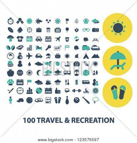 travel recreation icons