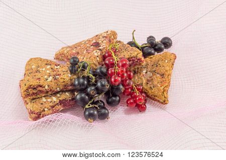 Integral Fruit Biscuits With Fresh Fruit