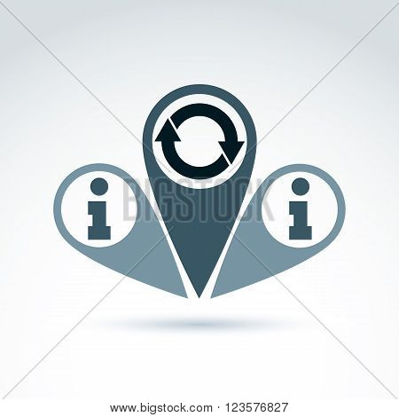 Information analyzing collecting and exchange theme icon analyze