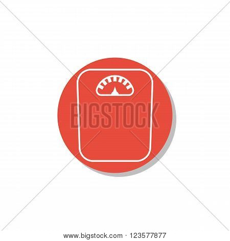 Libra Icon In Vector Format. Premium Quality Libra Icon. Web Graphic Libra Icon Sign On Red Circle B