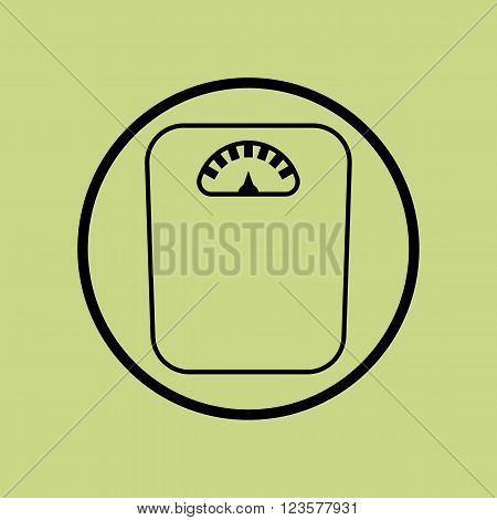 Libra Icon In Vector Format. Premium Quality Libra Icon. Web Graphic Libra Icon Sign On Green Circle
