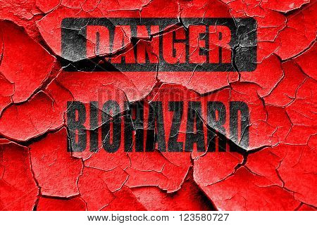 Grunge cracked Biohazard sign with some smooth lines