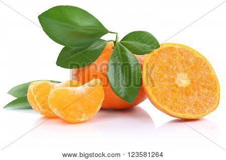 Mandarin Orange Mandarins Fruits Tangerine Tangerines Isolated