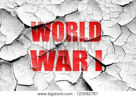 Grunge cracked World war 1 background with some smooth lines