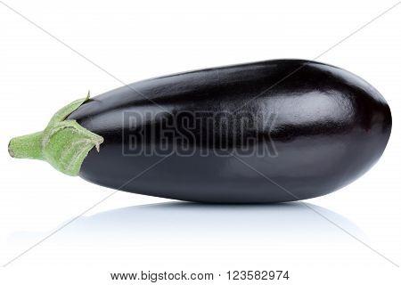 Eggplant Aubergine Isolated On White