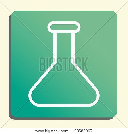 Flask Icon In Vector Format. Premium Quality Flask Icon. Web Graphic Flask Icon Sign On Green Light